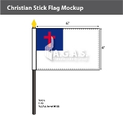 Christian Stick Flags 4x6 inch