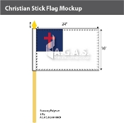 Christian Stick Flags 16x24 inch