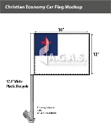 Christian Car Flags 12x16 inch Economy