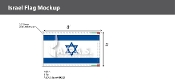 Israel Deluxe Flags 5x8 foot