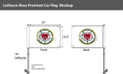 Lutheran Car Flags 10.5x15 inch Premium