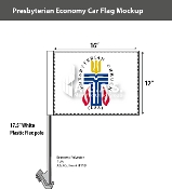 Presbyterian Car Flags 12x16 inch Economy