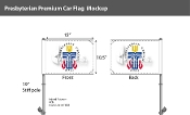 Presbyterian Car Flags 10.5x15 inch Premium
