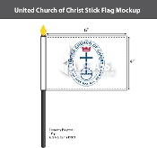 United Church of Christ Stick Flags 4x6 inch
