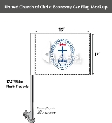 United Church of Christ Car Flags 12x16 inch Economy