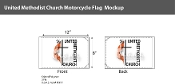 Methodist Motorcycle Flags 6x9 inch