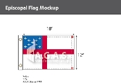 Episcopal Flags 12x18 inch