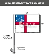 Episcopal Car Flags 12x16 inch Economy