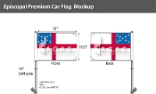 Episcopal Car Flags 10.5x15 inch Premium