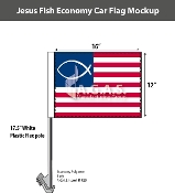 Jesus Fish Car Flags 12x16 inch Economy