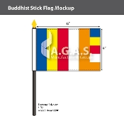 Buddhist Stick Flags 4x6 inch
