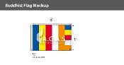 Buddhist Flags 2x3 foot