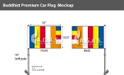 Buddhist Car Flags 10.5x15 inch Premium