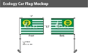 Ecology Car Flags 10.5x15 inch Premium