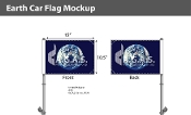 Earth Car Flags 10.5x15 inch Premium