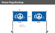 Peace Car Flags 10.5x15 inch Premium