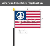 American Peace Stick Flags 4x6 inch