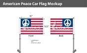 American Peace Car Flags 10.5x15 inch Premium