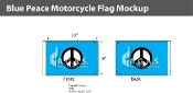 Blue Peace Motorcycle Flags 6x9 inch
