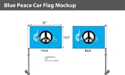 Blue Peace Car Flags 10.5x15 inch Premium