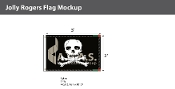 Jolly Roger Flags 2x3 foot