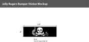 Jolly Roger Window Decals 3x10 inch