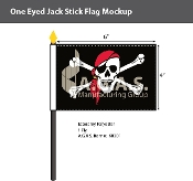 One Eyed Jack Stick Flags 4x6 inch