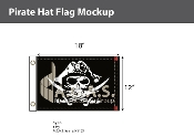Pirate Hat Flags 12x18 inch