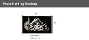 Pirate Hat Flags 3x5 foot