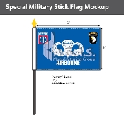 Airborne Stick Flags 4x6 inch