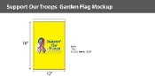 Support Our Troops Garden Flags 18x12 inch (yellow background)