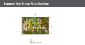 Support Our Troops Flags 2x3 foot (camouflage background)