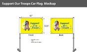 Support Our Troops Car Flags 10.5x15 inch Premium (yellow)