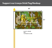 Support Our Troops Stick Flags 12x18 inch (camouflage)