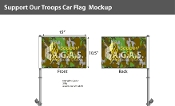 Support Our Troops Car Flags 10.5x15 inch Premium (camouflage)