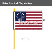 Betsy Ross Stick Flags 12x18 inch