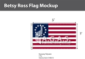 Betsy Ross Flags 3x5 foot