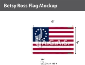 Betsy Ross Flags 4x6 foot
