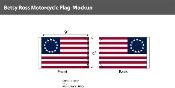 Betsy Ross Motorcycle Flags 6x9 inch