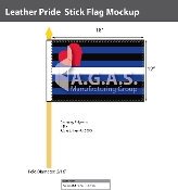 "Leather Pride Stick Flag 12""X18"""