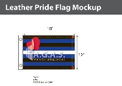 "Leather Pride Deluxe Flag 12""X18"""