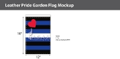 "Leather Pride Garden Deluxe Flag 12""X18"""
