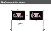 "Pink Triangle Car Flag 10.5""X15"""