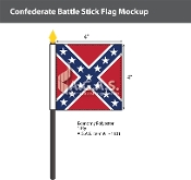 Confederate Battle Stick Flags 4x4 inch
