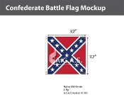 Confederate Battle Flags 32x32 inch