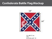 Confederate Battle Flags 38x38 inch