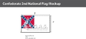 Confederate 2nd National Flags 3x5 foot