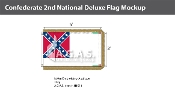 Confederate 2nd National Deluxe Flags 3x5 foot