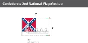 Confederate 2nd National Flags 4x6 foot