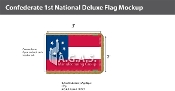 Confederate 1st National Deluxe Flags 2x3 foot